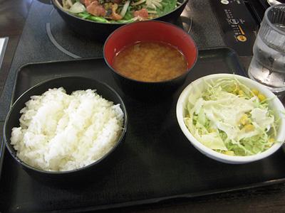 A定食(鶏高菜炒め) ライス 正直な食堂蔵前.jpg