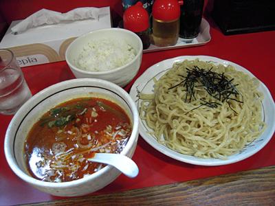 担々つけ麺(辛口)+小ライス 桃天花.jpg