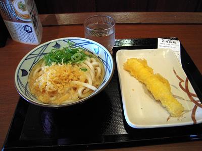 かけうどん(並)+イカ天・ちくわ天 丸亀製麺石岡.jpg