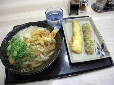 きつねうどん(中)+天ぷら はなまるうどん+カレー仲御徒町.jpg