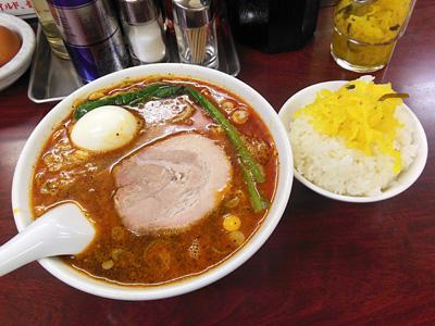 タンタン麺(大辛)+サービスライス 竹子本郷.jpg