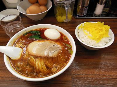 タンタン麺(大辛)+ライス 竹子上中里.jpg