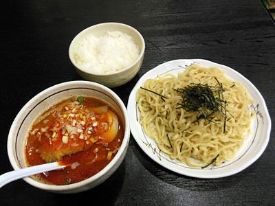 担々つけ麺 辛口(並)+小ライス 桃天花.jpg