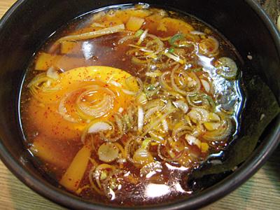 辛つけ麺(大盛り)+野菜 つけ汁 きくちゃん.jpg